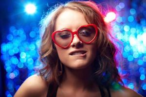 herzförmige Brille foto