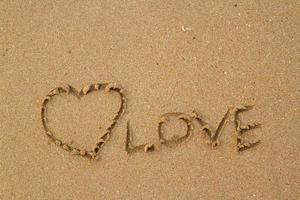Liebe im Sand foto