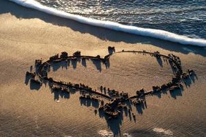 Herz im Sand foto