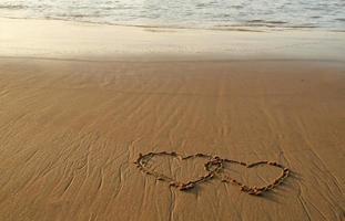 Herzen am Strand foto