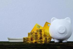 das Konzept, Geld zu sparen foto