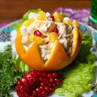 Orangen Vorspeise mit Granatapfel