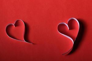 Papierherzen Hintergrund st. Valentinstag foto