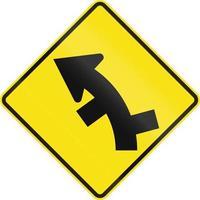versetzte Straßen in Kurve in Australien