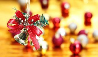 Glocke hängende Weihnachtsdekoration Hintergrund