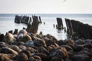 altes Wellenbrecherwasser foto
