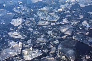 Eisschollen im Wasser foto