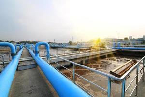 Wasserreinigungsanlage im Freien