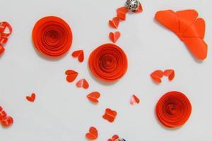 rote Rosen mit Liebe