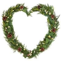 natürlicher Weihnachtskranz foto