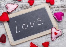Liebe handgeschriebene Nachricht foto