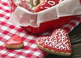 gebackene Herzen zum Valentinstag foto