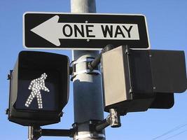 Einweg, zu Fuß foto