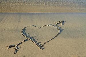 Liebe am Strand foto