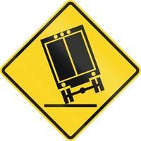 Lastwagen können in Kanada umkippen foto