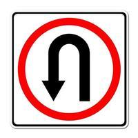 Straßenschild zurückbiegen