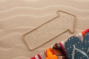 puerto rico pointer und strandzubehör liegen im sand