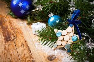 Weihnachtsgrußkarte foto