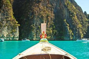 Schiffsnase Vorderansicht Langschwanzboot foto