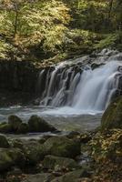 Wasserfall des Herbstlaubs