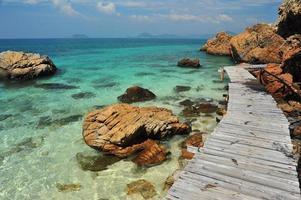 Sommerstrand auf der Insel