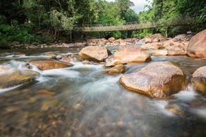 fließendes Wasser im Gebirgsfluss
