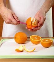 Orange schälen