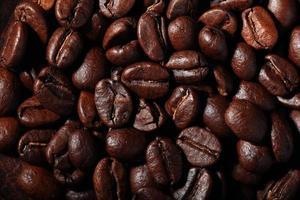 Arabica Kaffeebohnen Textur foto