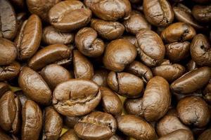 braune Kaffee Hintergrund Textur foto
