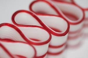 Frohe Weihnachten Band Süßigkeiten Makro foto
