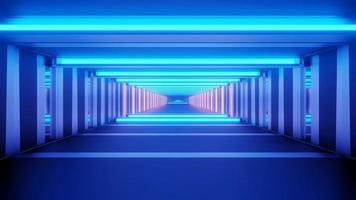 glänzender geräumiger blauer 3d Illustrationshintergrund