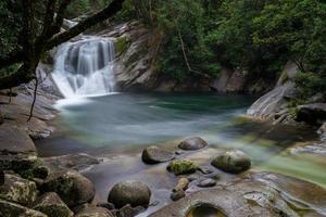 Langzeitbelichtung eines Wasserfalls in Australien