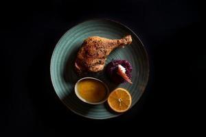 Entenfleisch mit Beat und Zitrusfrüchten