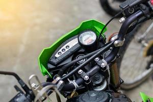 Tacho auf einem Motorrad foto
