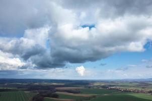 Luftaufnahme des Feldes