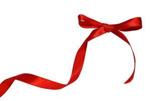 roter Bogen auf weißem Hintergrund foto