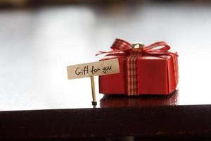 Geschenk für Sie Konzept foto