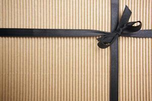 Geschenkbox aus Wellpappe foto