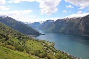 Aurlandsfjord, Norwegen foto