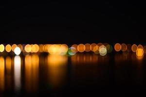 Nachtstadt defokussierte Lichter Hintergrund