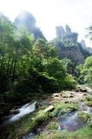 mysteriöse Berge Zhangjiajie, Provinz Hunan in China.