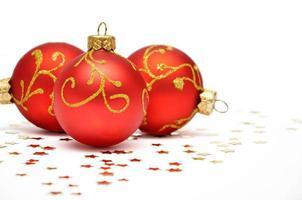 rote Weihnachtsdekoration foto