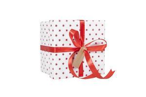 Geschenk verpackt Geschenk isoliert foto