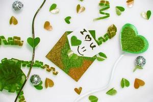 wahre Liebe mit schönen Grün und Braun