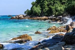schönes Meer in Thailand foto