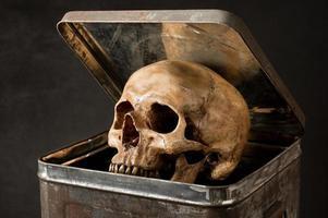 Schädel aus dem Eimer sein foto