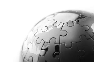 globales Strategie- und Lösungsgeschäftskonzept, Puzzle foto