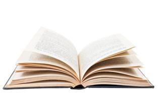 offenes Buch lokalisiert auf weißem Hintergrund