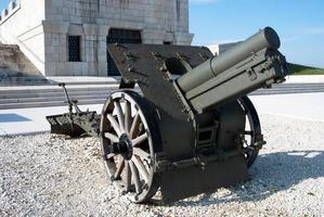 Kanone des ersten Weltkrieges