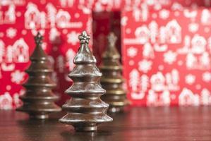 Schokoladenweihnachtsbäume foto